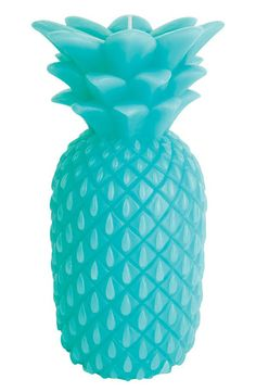 Large Turquoise Pineapple Candle