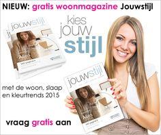 NIEUW: het gratis woonideeënboek 2015 ligt voor je klaar! Boordevol met de woon, slaap en kleurentrends voor 2015. Vraag het boek gratis aan via http://www.woonbrochuresonline.nl/