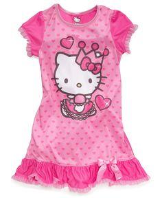 AME Kids Pajamas, Little Girls or Toddler Girls Hello Kitty Nightgown - Kids - Macy's