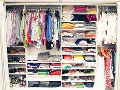 And enviable closet organization. 13 Insanely Fabulous Fashion Designer Homes Wardrobe Organisation, Closet Organization, Organizing Life, Wardrobe Ideas, Milan Apartment, Simple Closet, Dream Closets, Luxury Homes Interior, Closet Space
