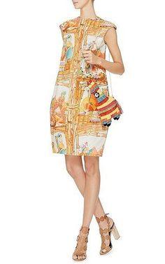 Printed Cap Sleeve Dress by Stella Jean Now Available on Moda Operandi