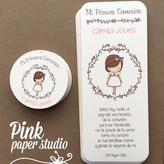 First Communion Favor Cards /Bookmark/ by PinkPaperStudioMiami First Communion Favors, First Communion Invitations, First Communion Dresses, First Holy Communion, Card Tags, Cards, Holidays And Events, Christening, Party Time