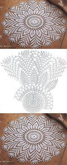 ideas crochet lace gloves pattern beautiful for 2019 Free Crochet Doily Patterns, Crochet Doily Diagram, Crochet Chart, Thread Crochet, Filet Crochet, Crochet Motif, Tatting Patterns, Crochet Dollies, Crochet Flowers