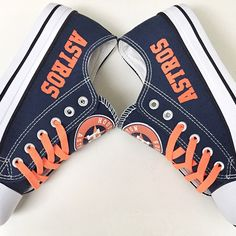 Houston Astros Converse Style Sneakers - http://cutesportsfan.com/houston-astros-designed-sneakers/