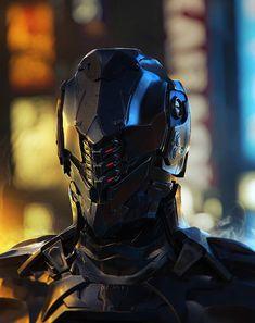 Black helmet, Futuristic