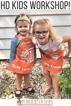 My girls love the FREE Home Depot DIY Kids Workshops for kids that are held every month. I'm sharing our experience with building, painting, collecting pins, snacking, and more today on the blog! #homedepot #free #kidsworkshop #homedepotkidsworkshop #toddlerfun