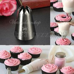 1.88AUD - Large Drop Flower Decorating Tip Icing Nozzle Sugarcraft Cookie Dough Decorat #ebay #Home & Garden