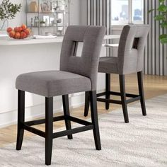 New Zarina 24 Bar Stool (Set of by Winston Porter kitchen dining furniture sale. offers on top store Grey Bar Stools, 24 Counter Stools, 30 Bar Stools, Swivel Bar Stools, Bar Chairs, Island Stools, Bar Counter, Room Chairs, Upholstered Dining Chairs