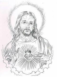 Minha pasta Card Tattoo Designs, Tattoo Design Drawings, Tattoo Sleeve Designs, Tattoo Sketches, Sleeve Tattoos, Jesus Christ Drawing, Jesus Drawings, Religious Tattoo Sleeves, Religious Tattoos