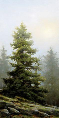 """""""The Muted Ridge,"""" by Renato Muccillo 12 x 24 - oil $2500 Custom framed"""