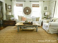 Living Room Jute Rug beautiful living room for christmas!   the most wonderful time of