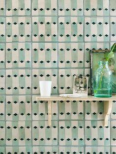 Tile Designs by Neisha Crosland for Fired Earth Neisha Crosland for Fired Earth Tiles Kitchen Floor Tile Patterns, Bathroom Floor Tiles, Kitchen Tiles, Kitchen Flooring, Wall Tiles, Tile Floor, Room Tiles, Floor Patterns, Tile Art