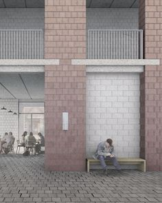 Interior Facade. A New Public Building for Leicester. Karabo Turner, Diploma Unit 8 Cass