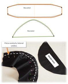 Aprende a coser una BANDANA de CHEF 🍜🍚🍝🍳🍲 — Steemit Diy Clothes, Mascara, Bones, Sewing Patterns, Hats, How To Make, Ideas, Scrub Hats, Sewing Tutorials