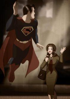 Des Taylor's retro pin-up style pop art - Superman & Lois Lane Superman And Lois Lane, Superman Family, Superman Stuff, Superman Artwork, Supergirl, Comic Books Art, Comic Art, Comic Movies, Superhero Pop Art