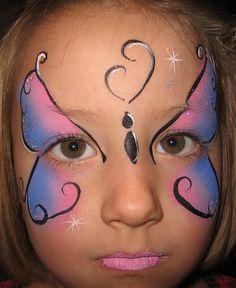 Helen McDonald Face Art Fantasy Face Painting Pink Blue Butterfly by faceartfantasy, via Flickr