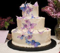 Bruidstaart met vlinders.