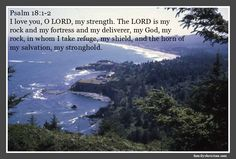 Psalm 18:1-2  I love you, O LORD, my strength. The LORD is my rock and my fortress and my deliverer, my God, my rock, in whom I take refuge, my shield, and the horn of my salvation, my stronghold.