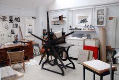 Henry Moore's restored etching studio