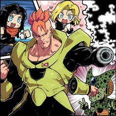Dragon Ball Z | Androides | No. 16 | No. 17 | No. 18 | Cell