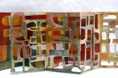 libri d'artista - livres d'artiste - artist books - libros de artista - Künstlerbuch: Riproduzione riservata © eleonora cumer E' da. Concertina Book, Accordion Book, Up Book, Book Art, Paper Book, Paper Art, Lucienne Day, Artist Journal, Book Sculpture