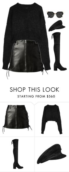 """Untitled #991"" by streetyouth ❤ liked on Polyvore featuring Yves Saint Laurent, Dolce&Gabbana, Stuart Weitzman, Hermès and Fendi"