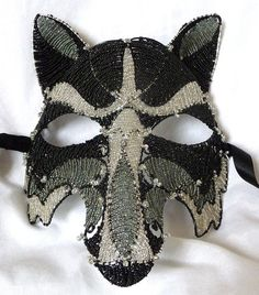 Wolf mens masquerade mask handmade by gringrimaceandsqueak on Etsy, $800.00