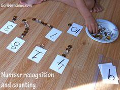 Number Recognition – Preschool math activity
