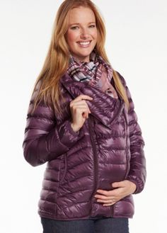 Ultra Light Down-Filled Maternity and Babywearing Coat $179.95