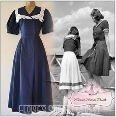 LAURA-ASHLEY-True-Vintage-Gatsby-20s-30s-Edwardian-Lace-Sailor-Dress-UK-10