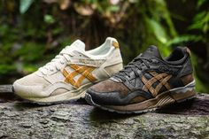 ASICS GEL-Lyte V Tartufo Pack Sneakers Shoes Mushrooms off white tan black brown earth Truffles Ostrich leather brushed suede Moda Sneakers, Best Sneakers, Casual Sneakers, Sneakers Fashion, Casual Shoes, Asics Shoes, Men's Shoes, Blue Shoes, Air Jordan