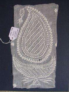 Lucknow Chikan motif ~ link to article with stitch info and further photos
