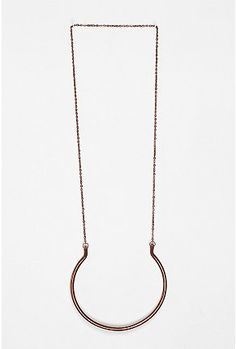 Open brass pendant necklace