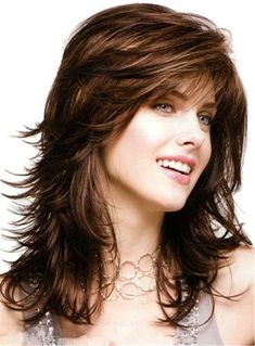 Find great deals for Long Body Loose Layered Wave Bangs Capless Synthetic Wig 16 Inches Cosplay Wig Long Face Hairstyles, Haircuts For Long Hair, Long Hair Cuts, Brunette Hairstyles, Pretty Hairstyles, Prom Hairstyles, Shaggy Haircuts, Layered Hairstyles, Vintage Hairstyles