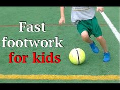 Soccer fast footwork for kids - YouTube