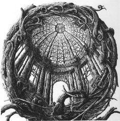 François Houtin Hommage à Pozzo, 1997, etching, mm 180 x 176 (copper plate) 340 x 240 (paper).