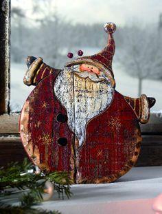 Drevený Mikuláš - dekorácia na Vianoce