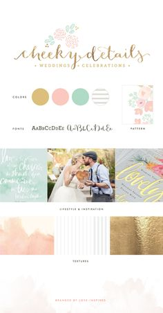 Cheeky Details Brand board / Design Inspiration / Branded by Love-Inspired