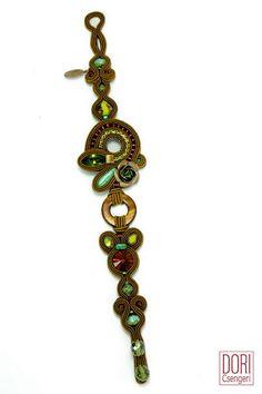 Monteverde boho chic bracelet in rich earth tones.  #doricsengeri #bohochic #bohostyle #earthtones #bracelet