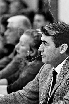 Gregory Peck at a Council of the Arts meeting, 1966.