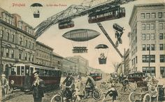 America of the Future | Pittsfield in the near Future | 1910-1930 | in the Future Series | Retro futurism back to the future tomorrow tomorrowland space planet age sci-fi pulp airship steampunk dieselpunk