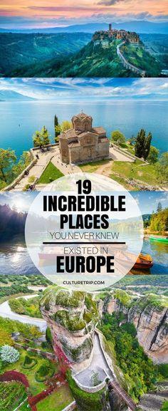 19 Incredible Places You Never Knew Existed in Europe 19 unglaubliche Orte, von denen Sie nie wussten, dass sie in Europa existierten Europe Travel Tips, European Travel, Travel Guides, Travel Goals, Backpacking Europe, Budget Travel, Travelling Europe, European Vacation, Travel Plan