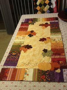 Fall table runner (want someone to make this for me)