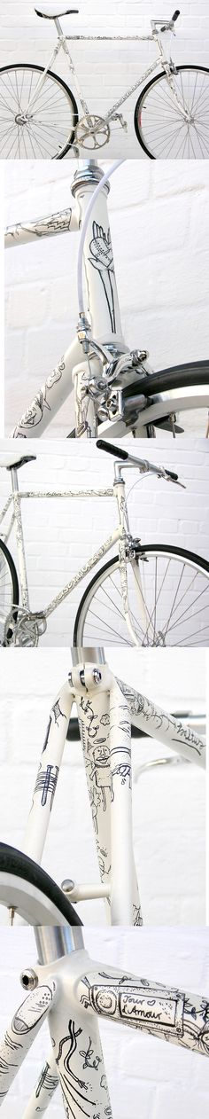 Illustrated Singlespeed by www.eisenherz-bikes.de