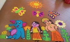 Making Rangoli designs at your house during any event is what everyone tries to achieve. Here are 75 simple rangoli designs for 2020 that are easy to make and will look the best with minimal efforts. Happy Diwali Rangoli, Easy Rangoli Designs Diwali, New Year Rangoli, Rangoli Simple, Rangoli Designs Flower, Rangoli Ideas, Rangoli Designs Images, Rangoli Designs With Dots, Kolam Rangoli