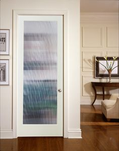 narrow reed decorative glass interior door - Glass Interior Doors