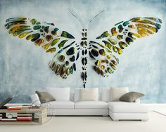 Personalized Custom Wall Murals 3D Butterfly Painting Wallpaper Photo wallpaper Room decor Bedroom Wedding Home Interior Design