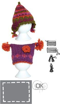 IDEE PETIT BONNET Easy Knitting Patterns, Knitting For Kids, Crochet Patterns, Knitting Ideas, Knitted Dolls, Knitted Hats, Crochet Hats, Diy Vetement, Big Knits