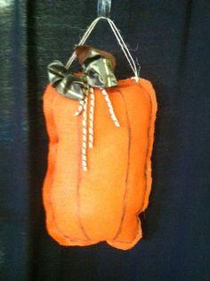 Tall pumpkin burlapz!  Hang on your front door for a festive fall look! $29.95
