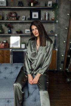 Silk Pajamas   Pajama Set   Silk Loungewear   Loungewear   Mulberry Silk   Luxury Pajama Satin Sleepwear, Satin Pyjama Set, Satin Pajamas, Silk Pajama Sets, Pyjamas, Pajamas For Teens, Cute Pajamas, Pajamas Women, Comfy Pajamas